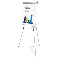 "Universal® Heavy Duty Presentation Easel, 69"" Maximum Height, Metal, Silver"
