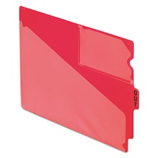 "Pendaflex® End Tab Poly Out Guides, Center ""OUT"" Tab, Letter, Red, 50/Box"