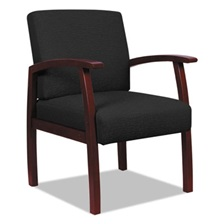 Alera® Alera Reception Lounge 700 Series Guest Chair, Mahogany/Black