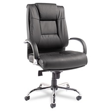 Alera® Alera Ravino Big & Tall Series High-Back Swivel/Tilt Leather Chair, Black