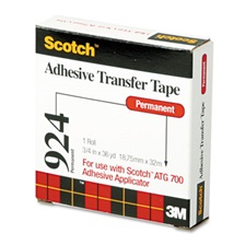 "Scotch® Adhesive Transfer Tape Roll, 3/4"" Wide x 36yds"