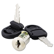 Alera® Core Removable Lock and Key Set, Silver, Two Keys/Set