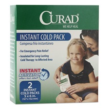 Curad® Instant Cold Pack, 2/Box