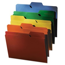 find It™ FindIt File Folders, 1/3 Cut, 11 Pt Stock, Letter, Assorted, 80/PK