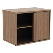 Alera® Alera Open Office Low Storage Cabinet Credenza, 29 1/2 x 19 1/8x 22 7/8, Walnut
