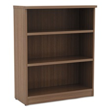 Alera® Alera Valencia Series Bookcase, Three-Shelf, 31 3/4w x 14d x 39 3/8h, Mod Walnut