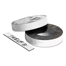 "ZEUS® Dry Erase Magnetic Label Tape, White,1"" x 50 ft."