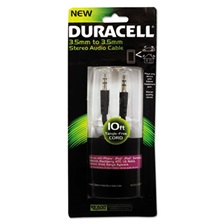 Duracell® Stereo Audio Cable, 10 ft