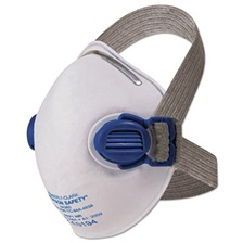 Jackson Safety* R10 Particulate Respirator, N95, White w/Gray Straps, 10/Box