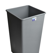 44 Gal. Square Garbage Can Grey