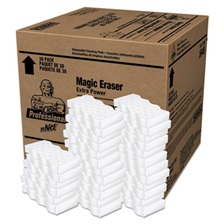 "Mr. Clean® Magic Eraser Extra Durable, 4 3/5"" x 2 2/5"", 7/10"" Thick, White, 30/Carton"