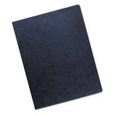 Fellowes® Linen Texture Binding System Covers, 11-1/4 x 8-3/4, Navy, 200/Pack