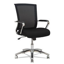 Alera® Alera ENR Series Mid-Back Slim Profile Mesh Chair, Black/Chrome
