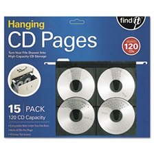 find It™ Hanging CD Pages, 15/Pack