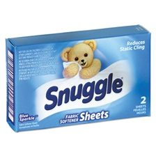 Snuggle® Vend-Design Fabric Softener Sheets, Blue Sparkle, 2 Sheets/Box, 100 Boxes/Carton
