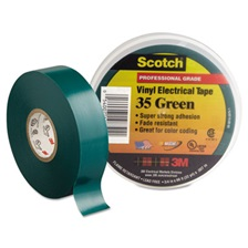 "3M™ Scotch 35 Vinyl Electrical Color Coding Tape, 3/4"" x 66ft, Green"