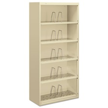 HON® 600 Series Jumbo Steel Open File, Five-Shelf, 36w x 16-3/4d x 75-7/8h, Putty
