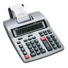 Casio® HR-150TM Two-Color Printing Calculator, Black/Red Print, 2.4 Lines/Sec
