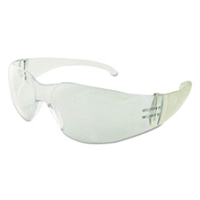 Boardwalk® Safety Glasses, Clear Frame/Clear Lens, Polycarbonate, Dozen