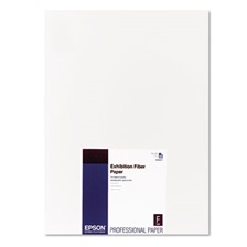 Epson® Exhibition Fiber Paper, 13 x 19, White, 25 Sheets