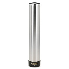 San Jamar® Large Water Cup Dispenser w/Removable Cap, Wall Mounted, Stainless Steel