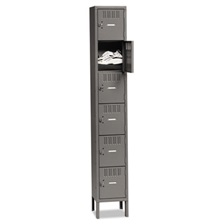Tennsco Box Compartments with Legs, Single Stack, 12w x 18d x 78h, Medium Gray
