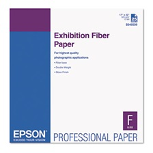 Epson® Exhibition Fiber Paper, 17 x 22, White, 25 Sheets