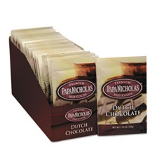PapaNicholas® Coffee Premium Hot Cocoa, Dutch Chocolate, 24/Carton