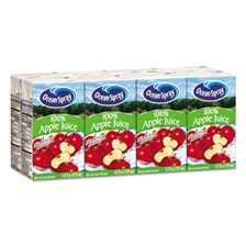 Ocean Spray® Aseptic Juice Boxes, 100% Apple, 4.2oz, 40/Carton