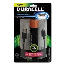 Duracell® Portable Power Bank with Micro USB Cable, 2600 mAh, Red