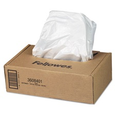 Fellowes® AutoMax Shredder Waste Bags, 16-20 gal, 50/CT