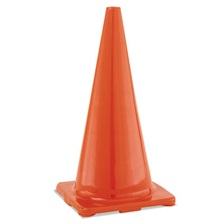"Champion Sports Hi-Visibility Vinyl Cones, 28"" Tall, Orange"