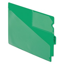 "Pendaflex® End Tab Poly Out Guides, Center ""OUT"" Tab, Letter, Green, 50/Box"