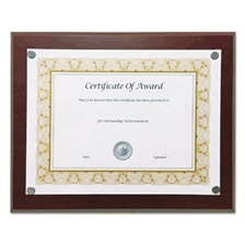 "NuDell™ Magnetic Series Woodgrain Plaque, Mahogany, 13""W, Rectangle"