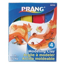Prang® Modeling Clay Assortment, 1/4 lb each Blue/Green/Red/Yellow, 1 lb
