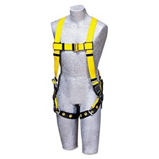 DBI-SALA® Full-Body Harness, Tongue Buckles, Back D-Ring, Universal, 420lb Capacity