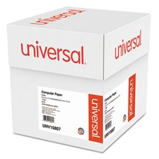 Universal® Computer Paper, 20lb, 9-1/2 x 11, Letter Trim Perforation, White, 2300 Sheets