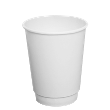 12oz Karat Insulated Hot Cups (White)