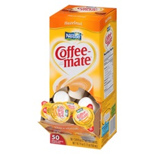 Coffee-mate® Hazelnut Creamer, 0.375oz, 50/Box
