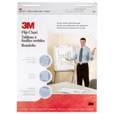 3M™ Professional Flip Chart Pad, Unruled, 25 x 30, White, 40 Sheets, 2/Carton