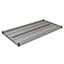 Alera® Industrial Wire Shelving Extra Wire Shelves, 48w x 24d, Black, 2 Shelves/Carton