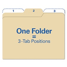 find It™ Findit File Folders, 1/3 Cut, 11 Pt Stock, Letter, Manila, 80/Pack