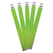 Advantus Crowd Management Wristbands, Sequentially Numbered, 10 x 3/4, Green, 500/Pack
