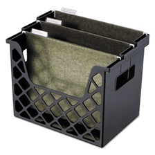 Universal® Recycled Desktop File Holder, Plastic, 13 1/4 X 8 1/2 X 9 5/8, Black