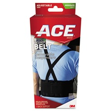 ACE™ Work Belt with Removable Suspenders, One Size Adjustable, Black