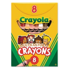 Crayola® Multicultural Crayons, 8 Skin Tone Colors/Box