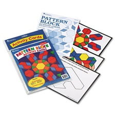 Learning Resources® Intermediate Pattern Block Design Cards, for Grades 2-6