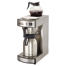 Coffee Pro Thermal Institutional Brewer, Stainless Steel, 12 Cup, 15 1/2 x 14 3/4 x 17