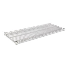 Alera® Industrial Wire Shelving Extra Wire Shelves, 48w x 18d, Silver, 2 Shelves/Carton