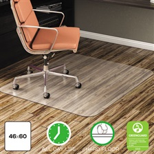deflecto® EconoMat Anytime Use Chair Mat for Hard Floor, 46 x 60, Clear